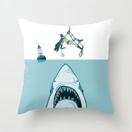 Batshark Throw Pillow
