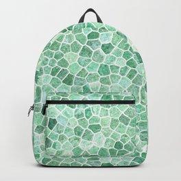 Muddled Puddles Pale Aqua Ocean Patchwork Backpack