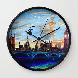Mary Poppins returns to London Wall Clock
