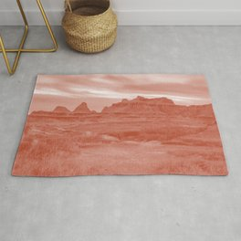 desert night rust tone washed out effect aesthetic landscape art photography Rug
