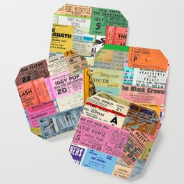 I miss concerts - ticket stubs Coaster