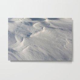 April snow drifts Metal Print