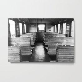 Old train compartment - Altes Zugabteil Metal Print