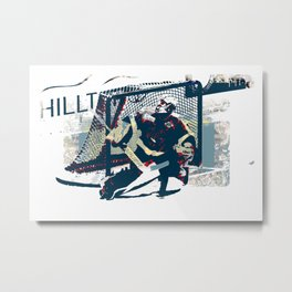 Goalie - Ice Hockey Player Metal Print