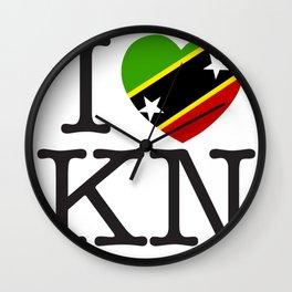 I Love Saint Kitts and Nevis Wall Clock