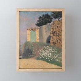 Un chemin à Cagnes by Félix Vallotton - Colorful Les Nabis Art Framed Mini Art Print