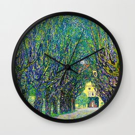 Gustav Klimt - Allee At Schloss Kammer - Digital Remastered Edition Wall Clock