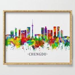Chengdu China Skyline Serving Tray