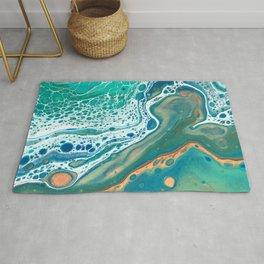 Coastal Waters Acrylic Pour Rug