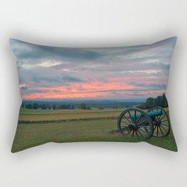 Gettysburg Cannon Sunset Rectangular Pillow