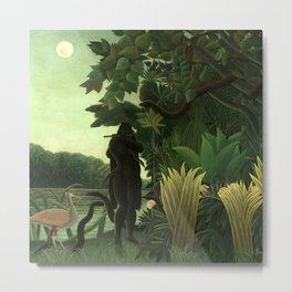 "Henri Rousseau ""The Snake Charmer"" Metal Print"