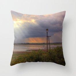 Sunset over the Norfolk Broads, UK Throw Pillow