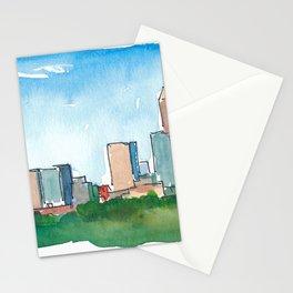 Charlotte North Carolina Skyline at Sunset Stationery Cards