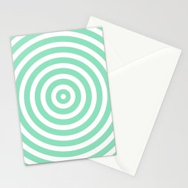 Circles (Mint & White Pattern) Stationery Cards