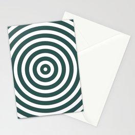 Circles (Dark Green & White Pattern) Stationery Cards