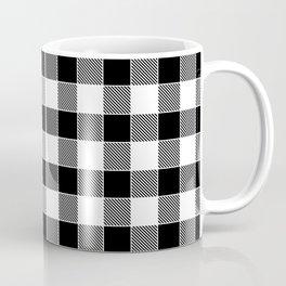Buffalo Check - black / white Coffee Mug