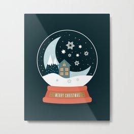 Christmas Crystal Ball Metal Print