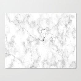 White marble decor 1 Canvas Print