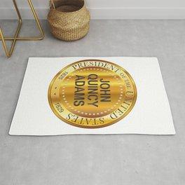 John Quincy Adams Gold Metal Stamp Rug
