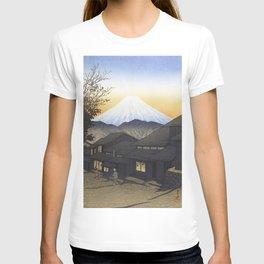 Fuji Mountain Seen From Yui, Suruga Province - Vintage Japanese Woodblock Print Art T-shirt