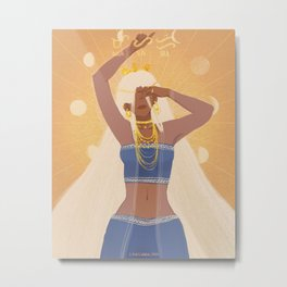 Mayari | Goddess of the Moon Metal Print