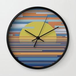 Geometric Sunset Wall Clock