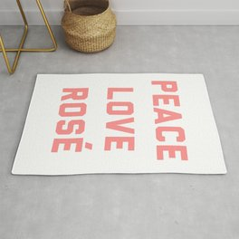 Peace Love Rosé Quote Rug
