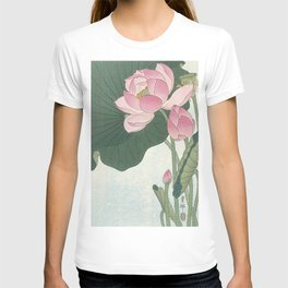 Flowering lotus flowers, Ohara Koson T-shirt