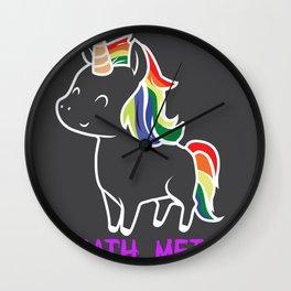 Death Metal Unicorn Rainbow Mane Gift Wall Clock