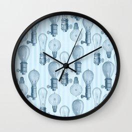 Vintage Light Bulbs Neck Gator Blue Stripe Light Bulb Wall Clock