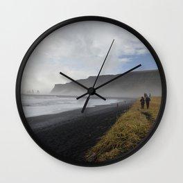 Reynisfjara Black Sands Beach Iceland Wall Clock