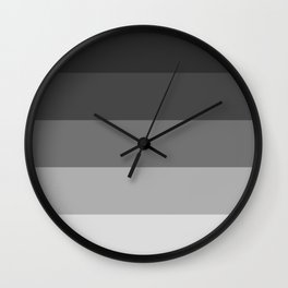 Soft Gray Stripes in Perfect Balance Wall Clock