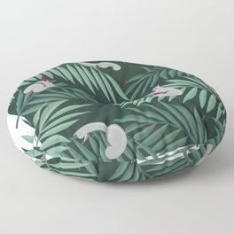 Palm Leaves & Squirrels Floor Pillow