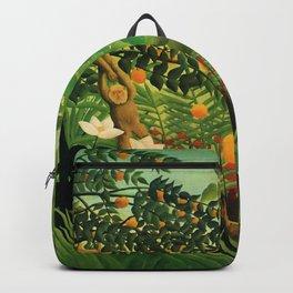 "Henri Rousseau ""Monkeys in the jungle - Exotic landscape"" Backpack"