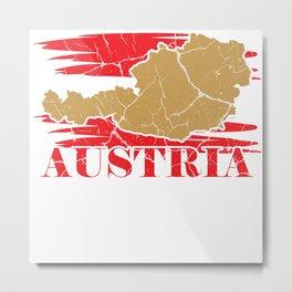 Austria Vienna Gift Tyrol Salzburg Styria Metal Print