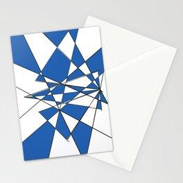 Geometric Classic Blue Stationery Cards