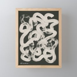 Abstract Coil A Modern Print Framed Mini Art Print