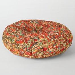 Jackson Pollock digitally reworked Floor Pillow