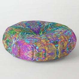 Buddha 5 geometry III Floor Pillow
