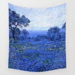 Bluebonnet pastoral scene landscape painting by Robert Julian Onderdonk Wall Tapestry