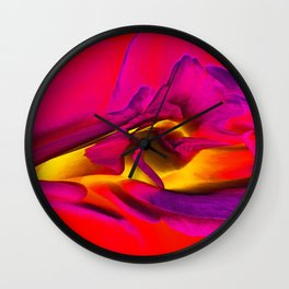 Rose 1207 - Red Wall Clock