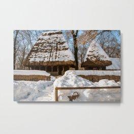 Idyllic winter postcard like from the old times Metal Print