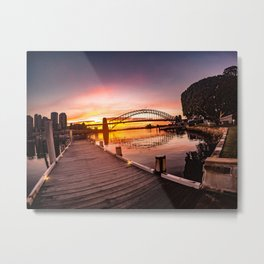 Sunrise in Sydney Metal Print
