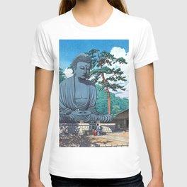The Great Buddha At Kamakura - Vintage Japanese Woodblock Print Art T-shirt