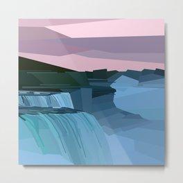 Geometric Niagara Falls, Canada USA Metal Print