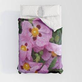 Purple flowers 4 Comforters