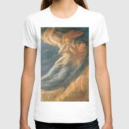 Paolo e Francesca (Swept Away) by Gaetano Previati T-shirt