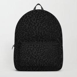 Goth Black Leopard Animal Print Backpack