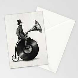 Music Man (monochrome option) Stationery Cards
