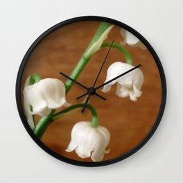 lily of the valley II Wall Clock